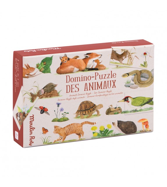 DOMINO-PUZZLE ANIMALS Moulin Rotty